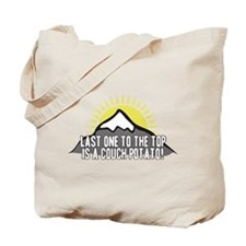 Last one to the Top Tote Bag