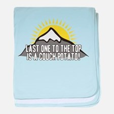 Last one to the Top baby blanket