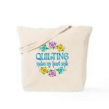 Quilting Smiles Tote Bag