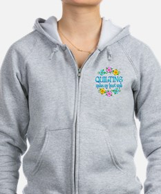 Quilting Smiles Zipped Hoodie