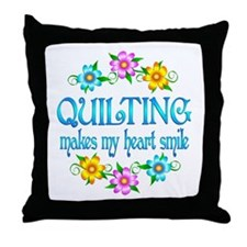 Quilting Smiles Throw Pillow