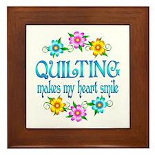 Quilting Smiles Framed Tile