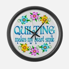 Quilting Smiles Large Wall Clock