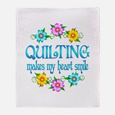 Quilting Smiles Throw Blanket