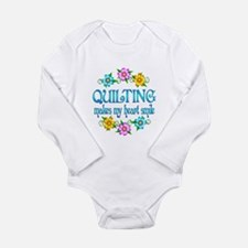 Quilting Smiles Long Sleeve Infant Bodysuit