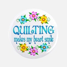 """Quilting Smiles 3.5"""" Button"""