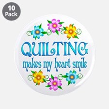 """Quilting Smiles 3.5"""" Button (10 pack)"""