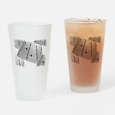 Hammered Dulcimer Drinking Glass
