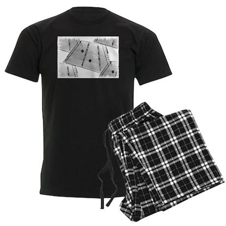 Hammered Dulcimer Men's Dark Pajamas