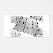 Hammered Dulcimer Aluminum License Plate