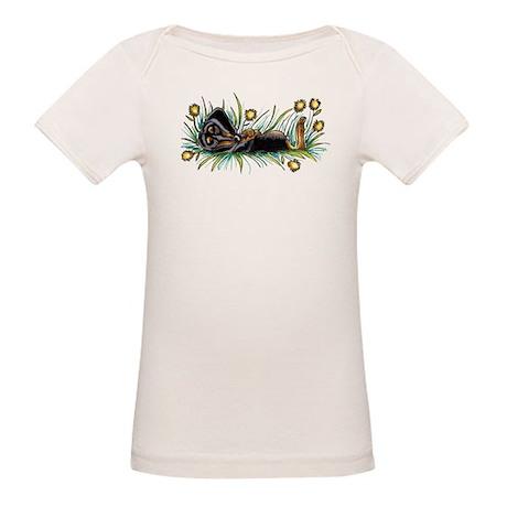 Dandelion Dachshund Lover Organic Baby T-Shirt