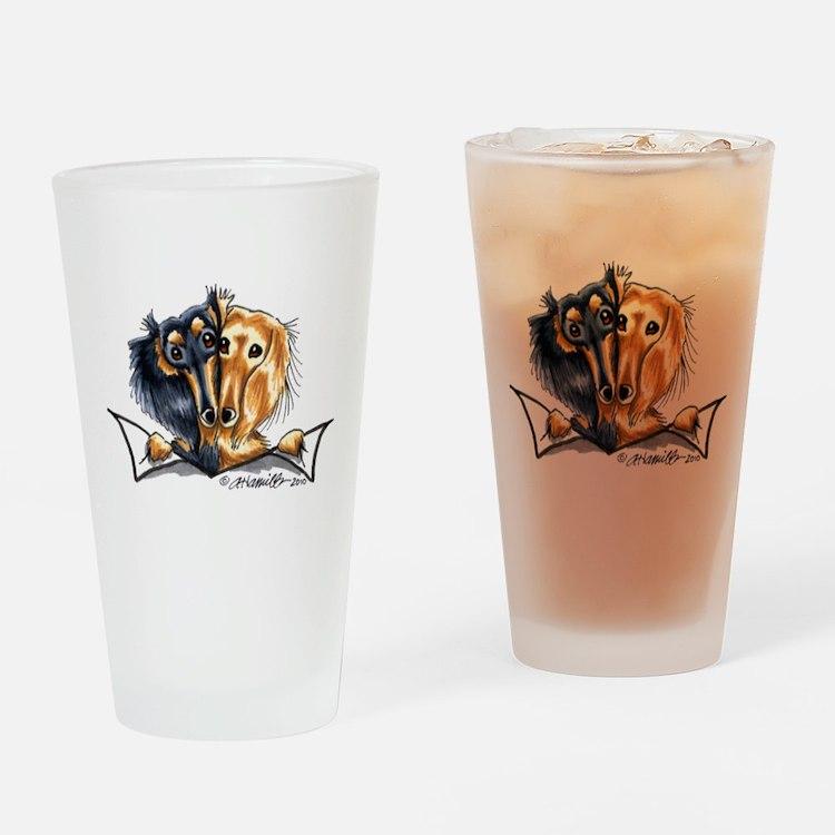 Longhair Dachshund Lover Drinking Glass