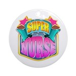 Super Nurse Ornament (Round)