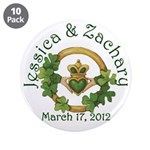"Jessica & Zachary 3.5"" Buttons (10 pack)"