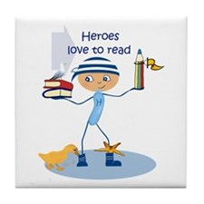 Heroes love to read - Tile Coaster