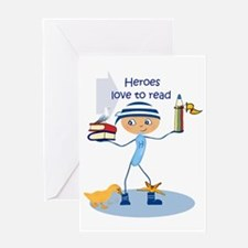 Heroes love to read - Greeting Card