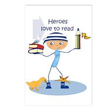 Heroes love to read - Postcards (Package of 8)