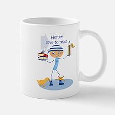 Heroes love to read - Mug
