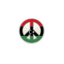 Libya Peace Mini Button
