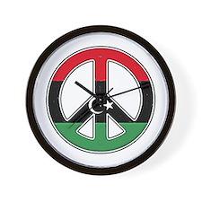 Libya Peace Wall Clock