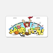 Sports Mom Aluminum License Plate
