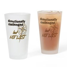 Directionally Challenged Drinking Glass