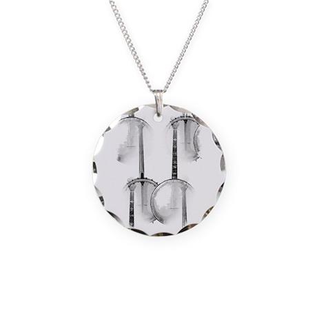 Banjo Necklace Circle Charm