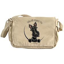 Black Scottie IAAM Messenger Bag