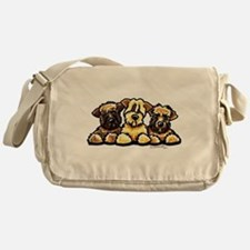 Wheaten Terrier Cartoon Messenger Bag