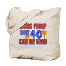 Cool 40 year old birthday design Tote Bag