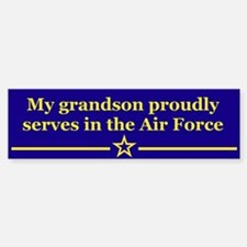 My grandson proudly serves Bumper Car Car Sticker