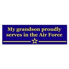 My grandson proudly serves Bumper Car Sticker