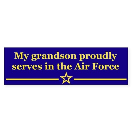 My grandson proudly serves Bumper Sticker
