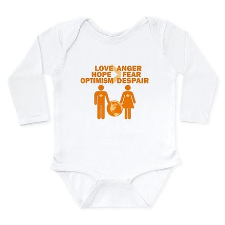 Love Hope Optimism Long Sleeve Infant Bodysuit