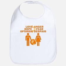 Love Hope Optimism Bib