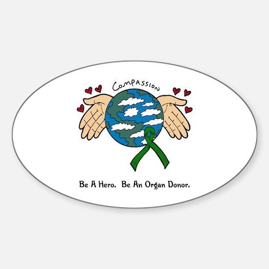 Donor World II Oval Decal