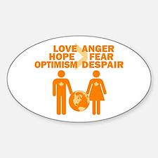Love Hope Optimism Decal