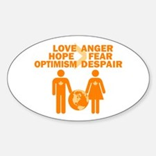 Love Hope Optimism Sticker (Oval)