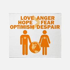 Love Hope Optimism Throw Blanket