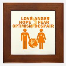 Love Hope Optimism Framed Tile