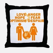 Love Hope Optimism Throw Pillow