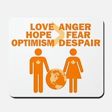 Love Hope Optimism Mousepad