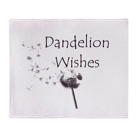 Dandelion Wishes Throw Blanket