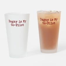 Dagny is my co-pilot Drinking Glass