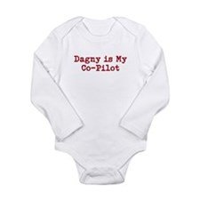 Dagny is my co-pilot Long Sleeve Infant Bodysuit
