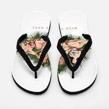 Hula Girls Wishing You Were Here Flip Flops