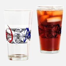 USA Tribal Drinking Glass