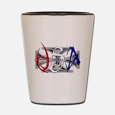 USA Tribal Shot Glass