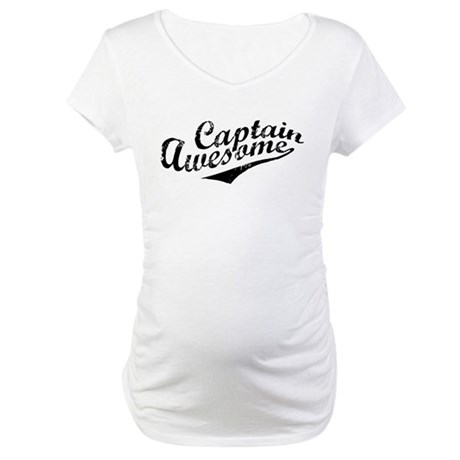 Captain Awesome Maternity T-Shirt