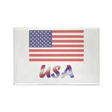 USA (flag) Rectangle Magnet